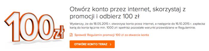 100 z� za za�o�enie konta w ING + 3% na koncie oszcz�dno�ciowym przez 4 miesi�ce
