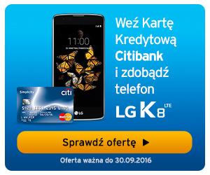 Telefon LG K8 LTE zupełnie za darmo od Citibank