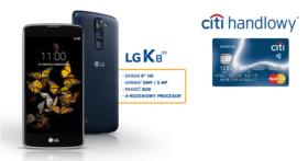 Smartfon LG K8 LTE w prezencie do darmowej karty Simplicity od Citibank!