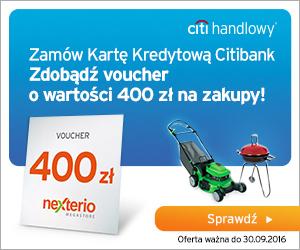 400 zł za wyrobienie darmowej karty Citibank