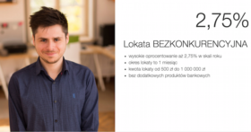 Idea Bank Lokata BEZKONKURENCYJNA 2.75