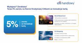 Citibank 5 proc cashback karta kredytowa