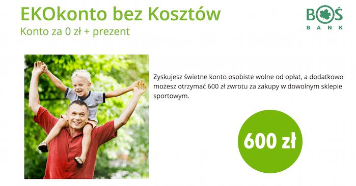 """89d6c7d4eed036 600 zł na wydatki sportowe za 4 lata """"uwiązania się"""" z kartą kredytową w  BOŚ Bank"""
